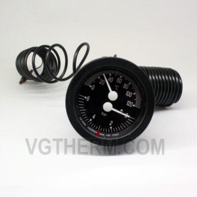 Капилярен термоманометър с клапан